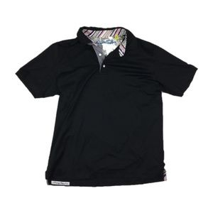 Robert Graham Sz S Black polo shirt mens